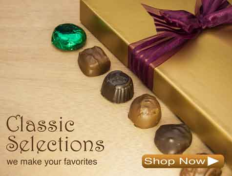 Creams, Pretzels, Buttercrunch, and Assorted Chocolates