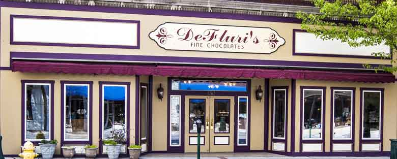 DeFluri's store front in downtown Martinsburg West Virginia