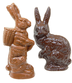 Easter Molded Herman and Cat Bunnies