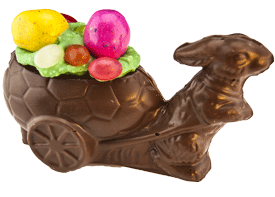 Easter Molded Bunny Cart
