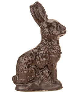 Sylvester Nine inch Solid Chocolate Easter Bunny