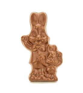 Waving Bunny Buddies Solid Chocolate Easter Bunny-Set of 3