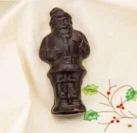 Solid Chocolate Santa -5 pc Set