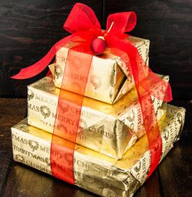 Merry Christmas Chocolate Gift Tower
