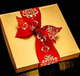 Holiday Brocade Chocolates